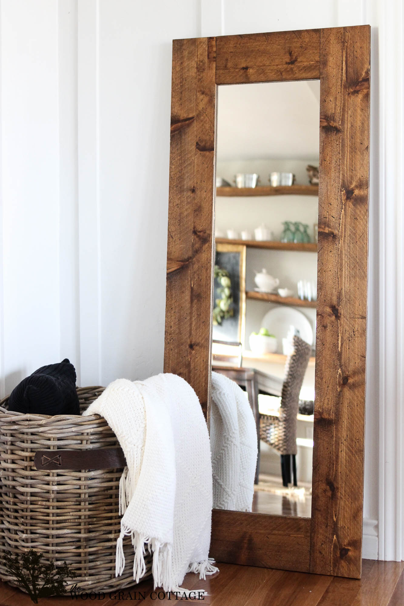 Reclaimed Wood Mirror | Reclaimed Wood Wall Mirror | Oversized Wall Mirrors