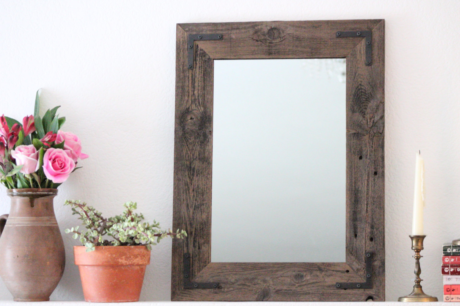 Reclaimed Wood Mirror | Rustic Vanity Mirrors | Wood Frame Full Length Mirror