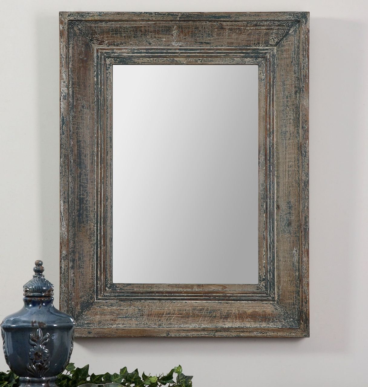 Reclaimed Wood Mirror | Wood Frame Wall Mirror | Sun Mirror Wall Decor