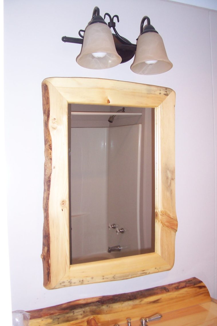 Reclaimed Wood Mirror | Wood Vanity Mirror | Wrought Iron Full Length Mirror