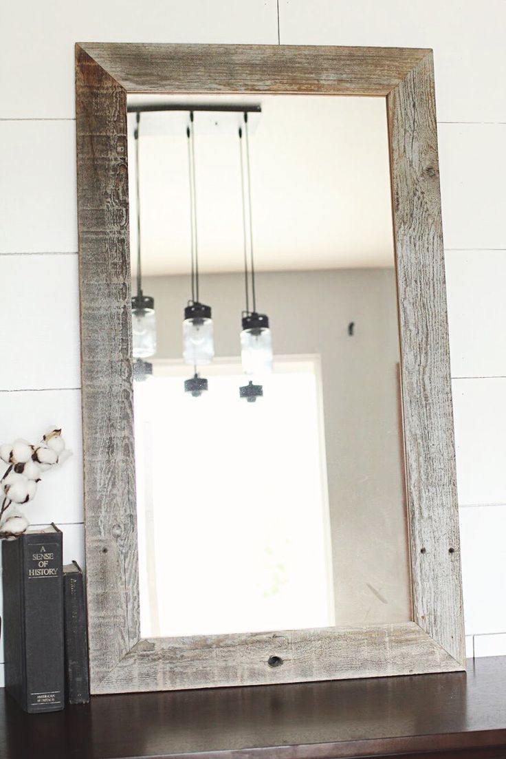 Reclaimed Wood Mirrors | Wrought Iron Full Length Mirror | Reclaimed Wood Mirror