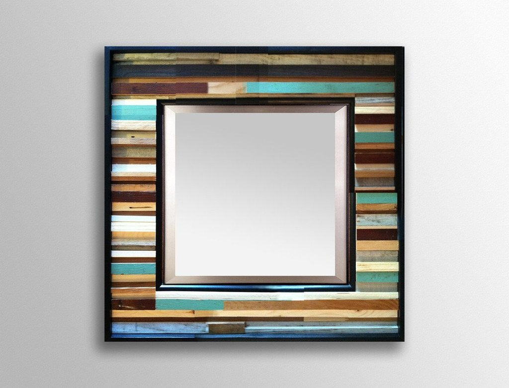 Mirrors: Mercury Glass Wall Mirror | Reclaimed Wood Mirror | Oak ...