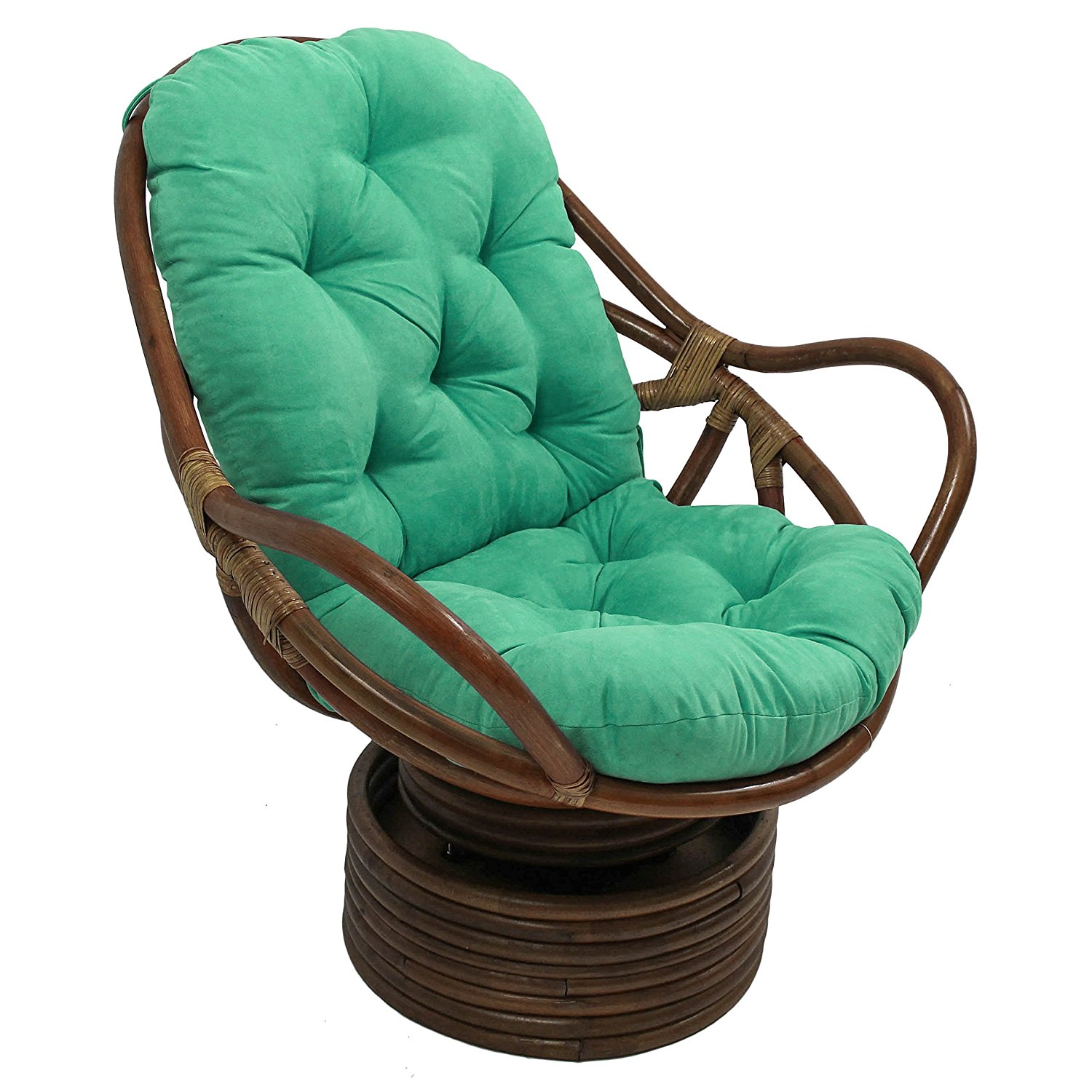 Reclining Wicker Chairs | Rattan Swivel Rocker | Cane Swivel Chair