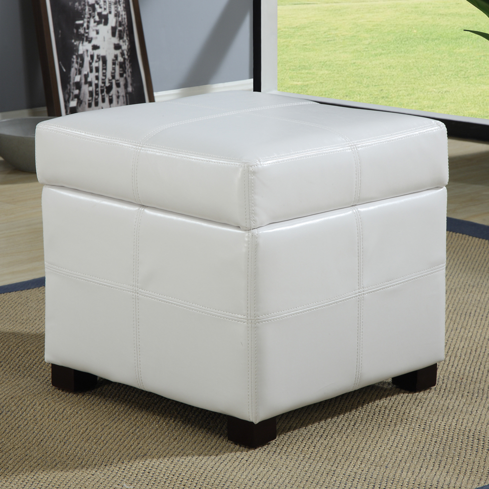 Red Storage Ottoman Cube | Storage Cube Ottoman | Ottoman Cubes with Storage