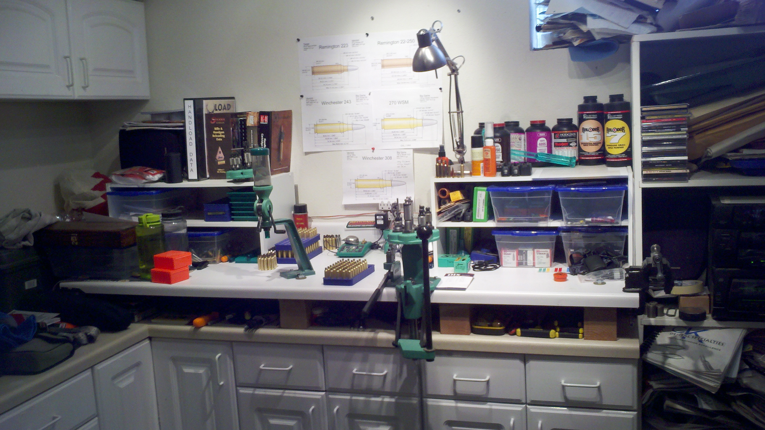 Reloading Bench Pictures | Reloading Bench Setup | Reloading Benches