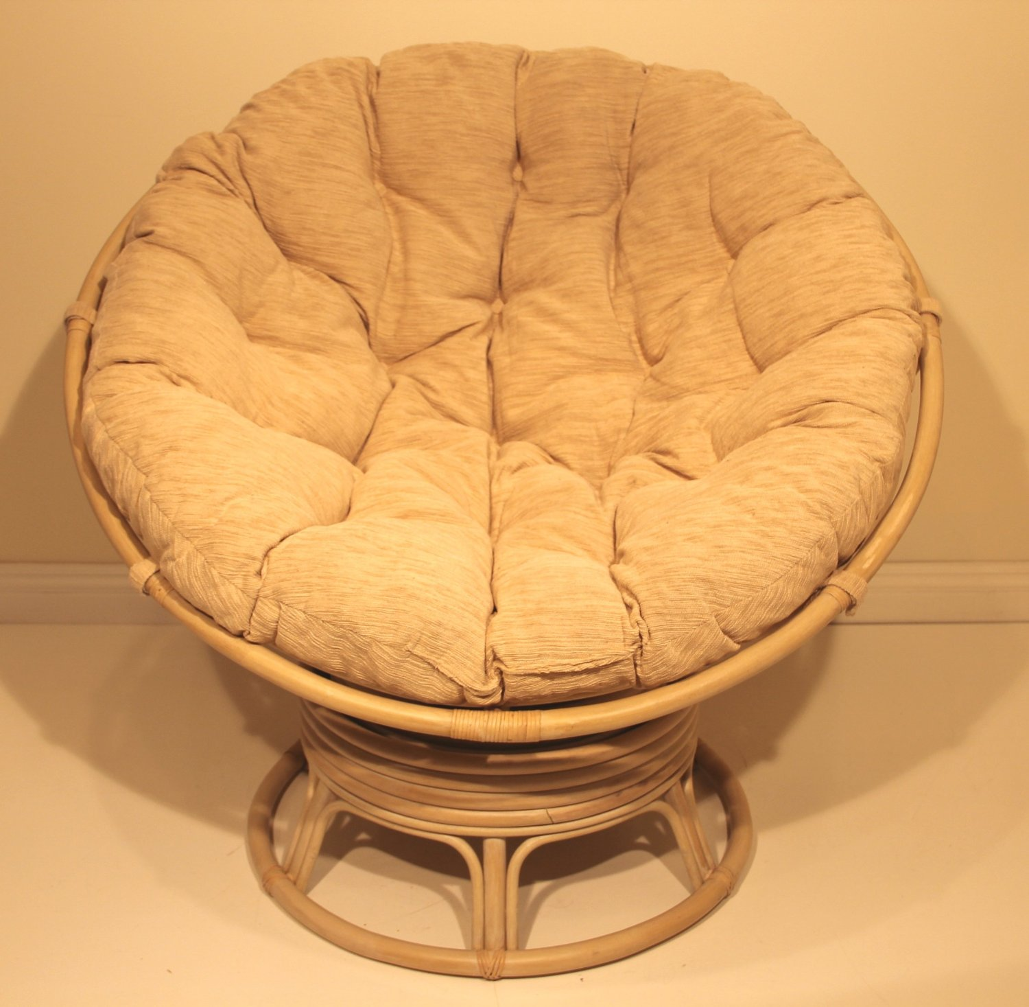Rocking Papasan Chair | Rattan Swivel Rocker | Papasan Rocker Chair