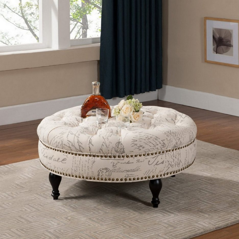 Round Ottoman Table | Coffe Table Ottoman | Large Ottoman Coffee Table