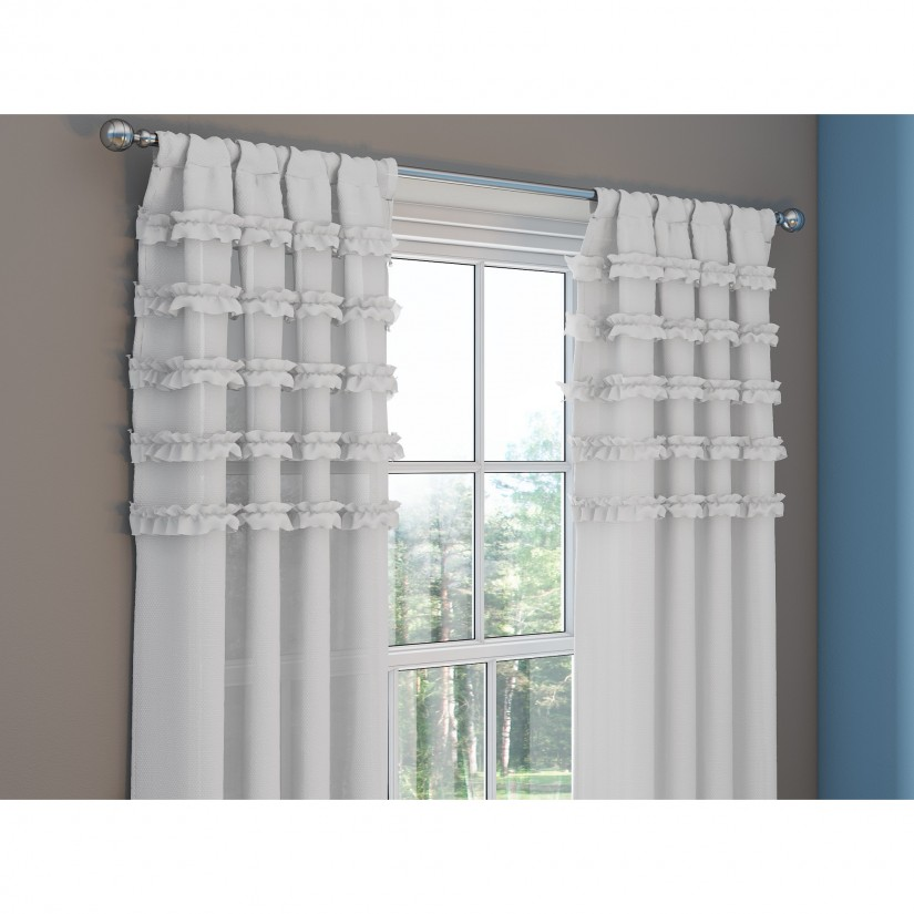 Ruffle Blackout Curtains | Baby Blackout Curtains | Ruffle Blackout Curtains