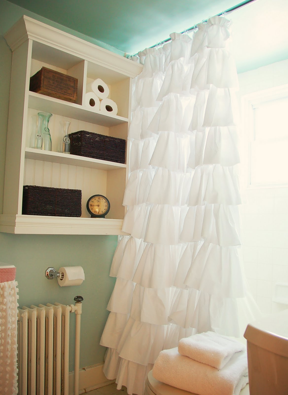 Ruffle Blackout Curtains | Girls Blackout Curtains | Cream Ruffle Curtains