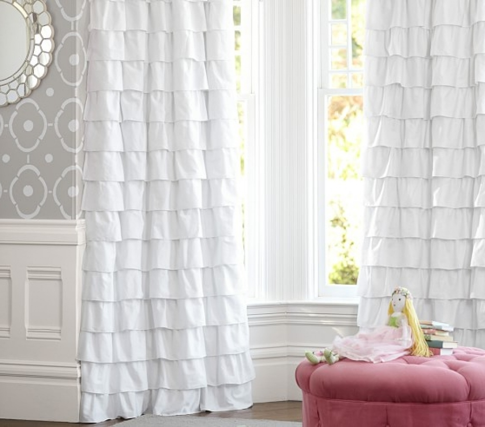 Ruffle Blackout Curtains | Mint Green Window Curtains | Room Darkening Curtains Kids