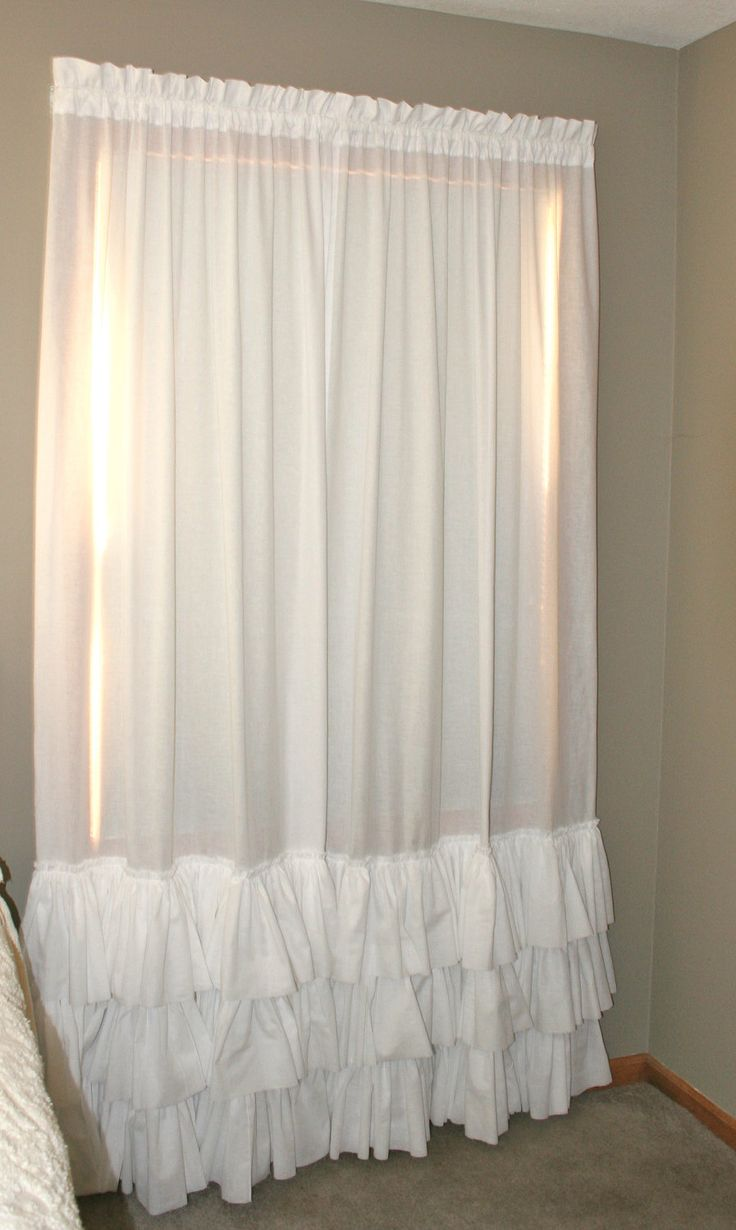 Ruffle Blackout Curtains | Room Darkening Curtains Kids | Ruffle Blackout Curtains