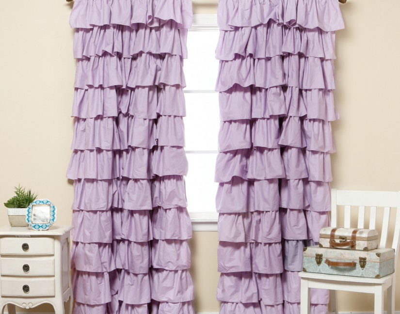 Ruffle Blackout Curtains | Valances For Boys Bedroom | Blackout Curtains For Boys