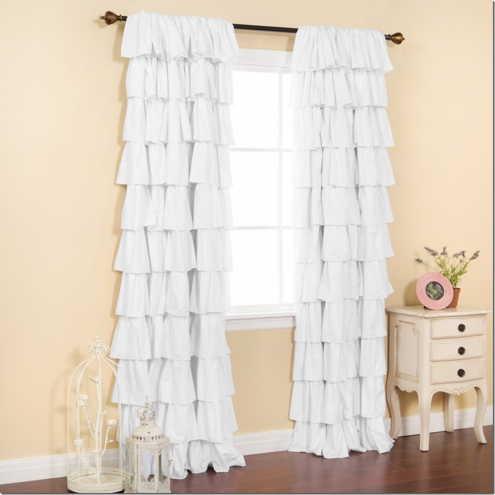 Ruffle Panel Curtains | Blackout Drapes for Nursery | Ruffle Blackout Curtains