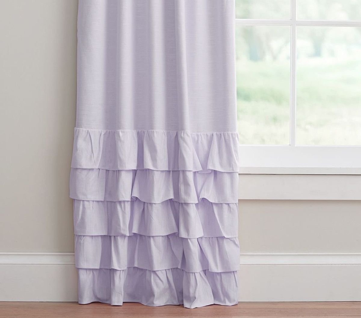 Ruffle Window Curtain | Blackout Curtains Childrens | Ruffle Blackout Curtains