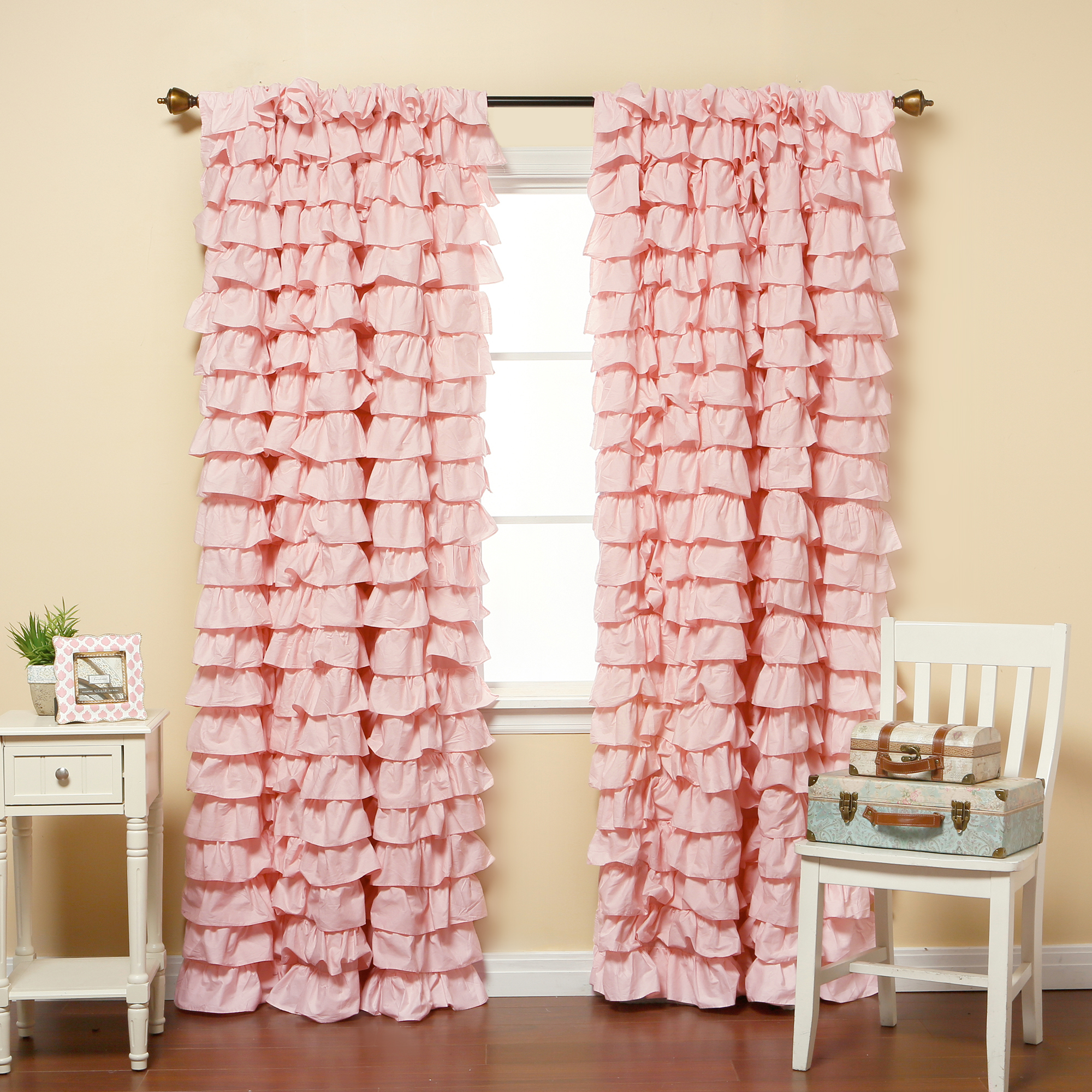 Ruffled Drapes | Blackout Curtains Nursery | Ruffle Blackout Curtains