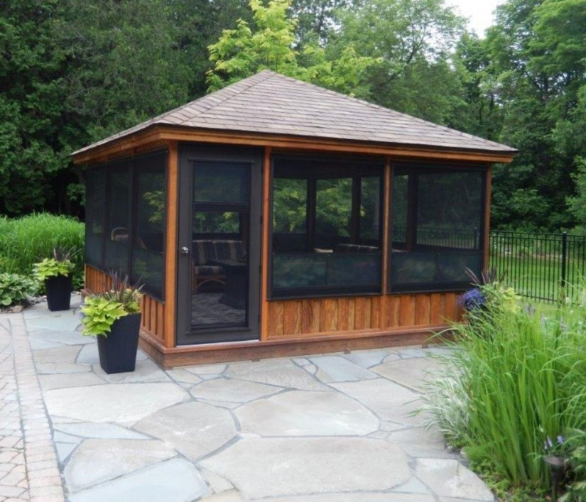 Screened Gazebo | Plastic Gazebo Kits | Gazebo With Insect Screen