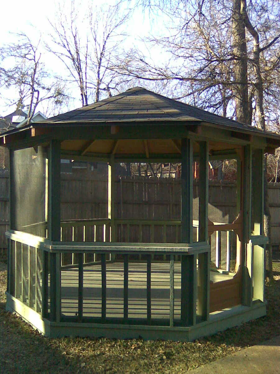 Screened Gazebo | Screened Gazebo | Round Garden Gazebo