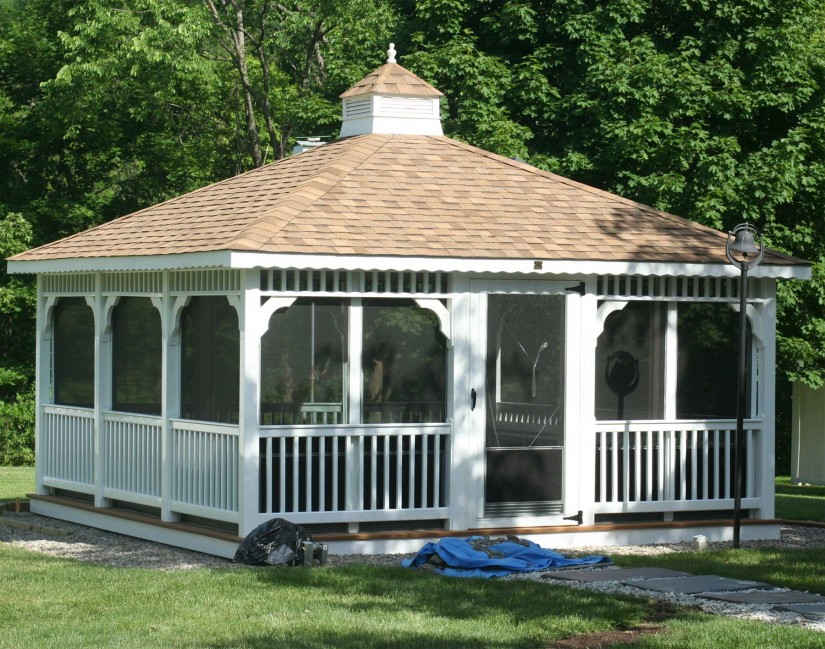 Screened Gazebo | Screened In Gazebo | Round Garden Gazebo