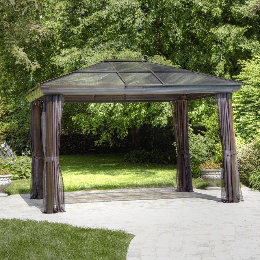 Screened Gazebo with Floor | Free Standing Gazebos | Screened Gazebo
