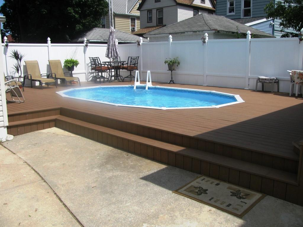 Semi Inground Pool | Above Ground Pools Tulsa | Semi Inground Pool Ideas