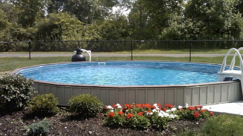 Semi Inground Pool Ideas | Above Ground Pool Cost | Half Inground Pools