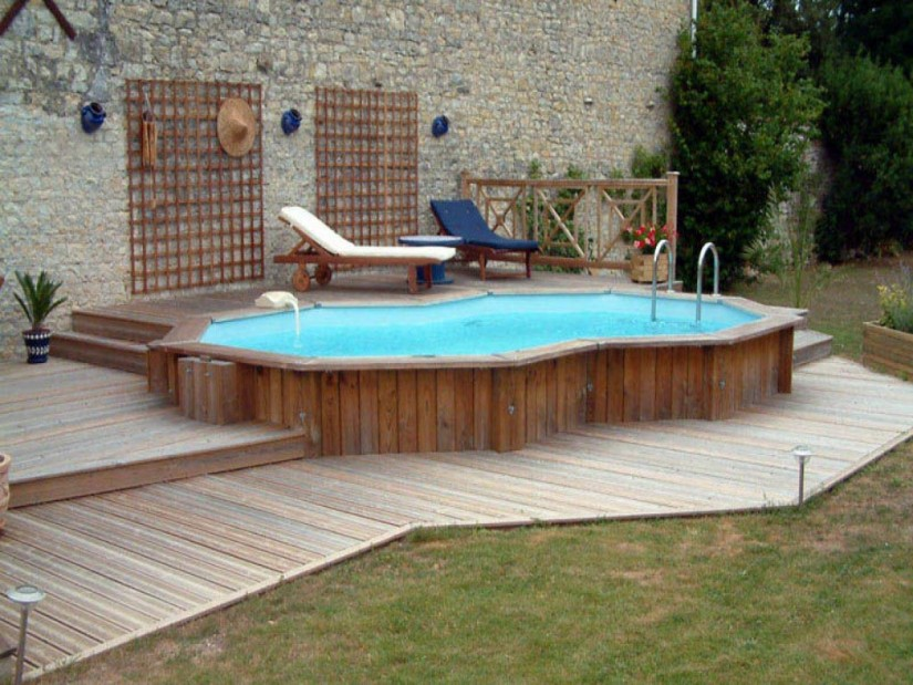 Semi Inground Pool Ideas | Above Ground Pool Underground | Above Ground Pool Cost