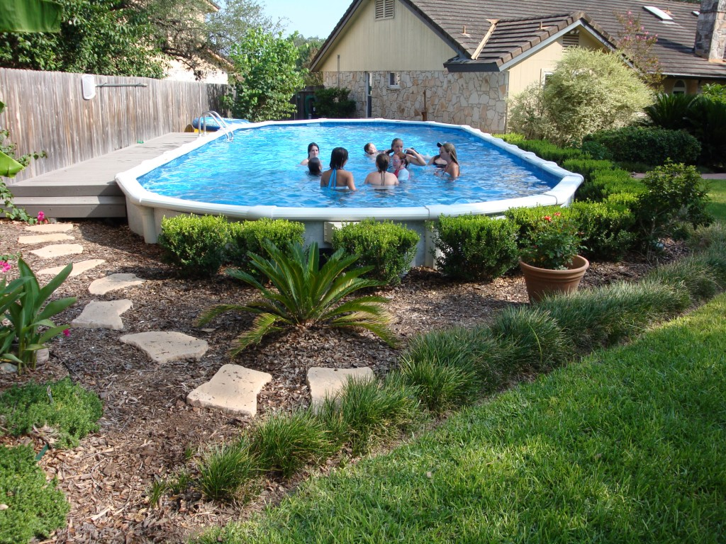 Semi Inground Pool Ideas | Above Ground Pool Underground | Buried Above Ground Pools