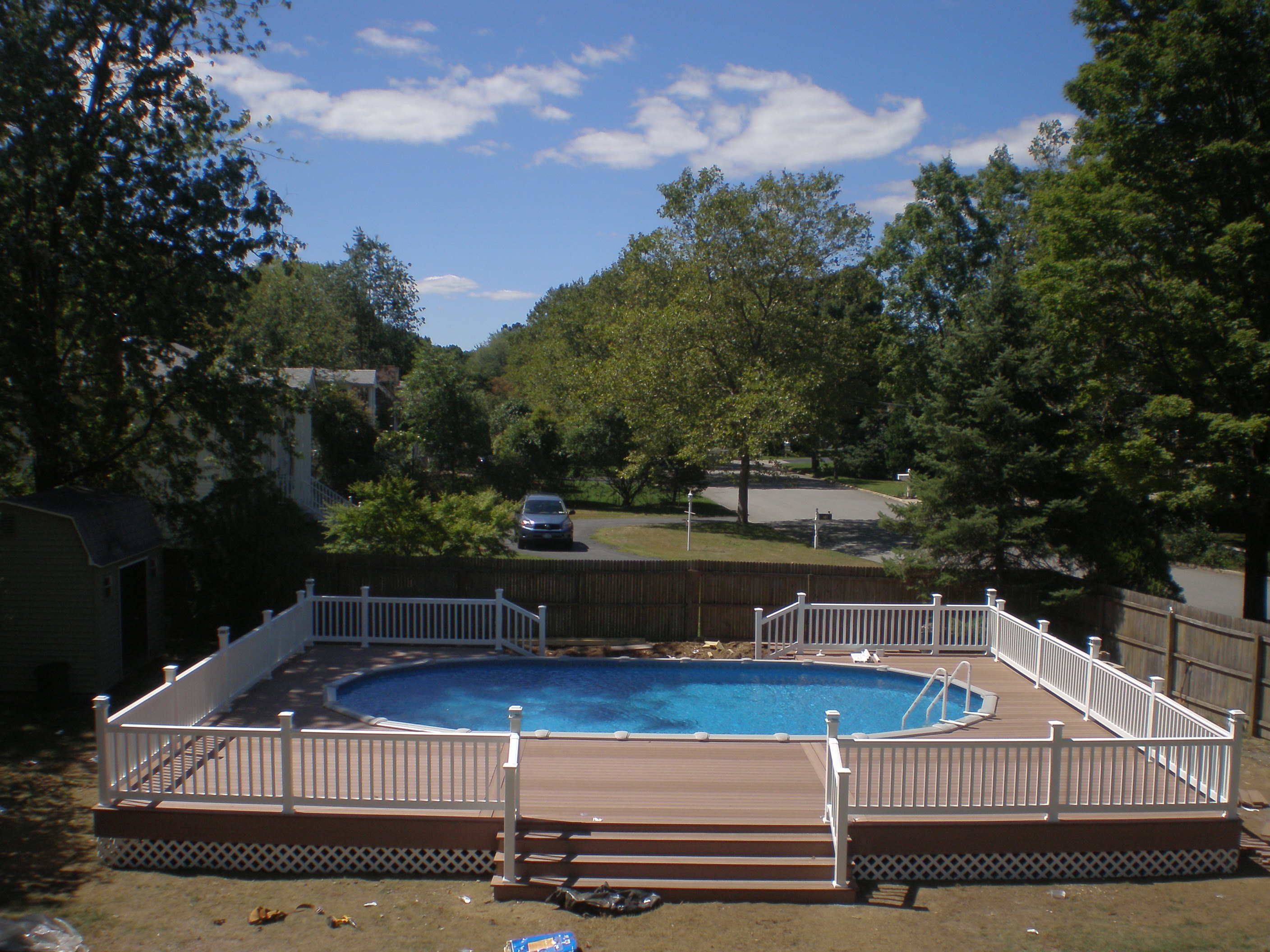 Semi Inground Pool Ideas | Buried Above Ground Pool | Inground Pool Prices