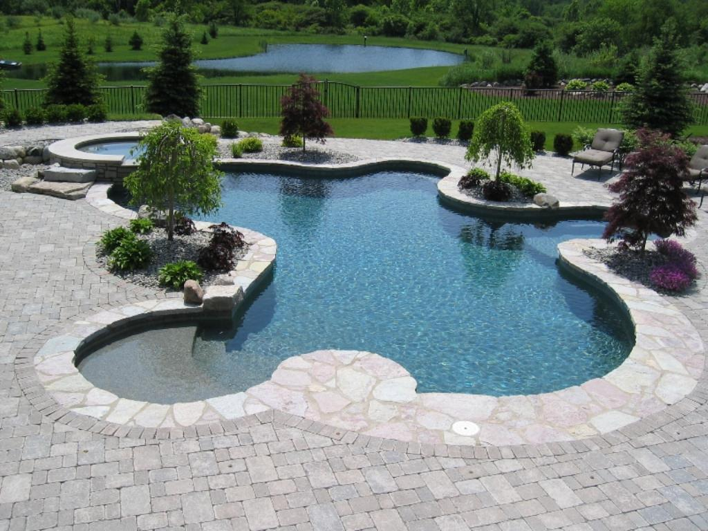 Semi Inground Pool Ideas | Half Inground Pool | Half Above Ground Pools