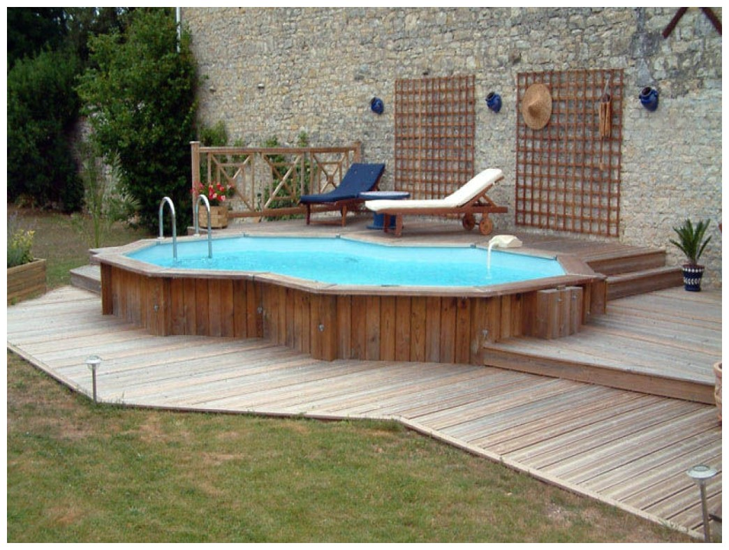 Semi Inground Pool Ideas | High End Above Ground Pools | Semi Inground Pool Sizes