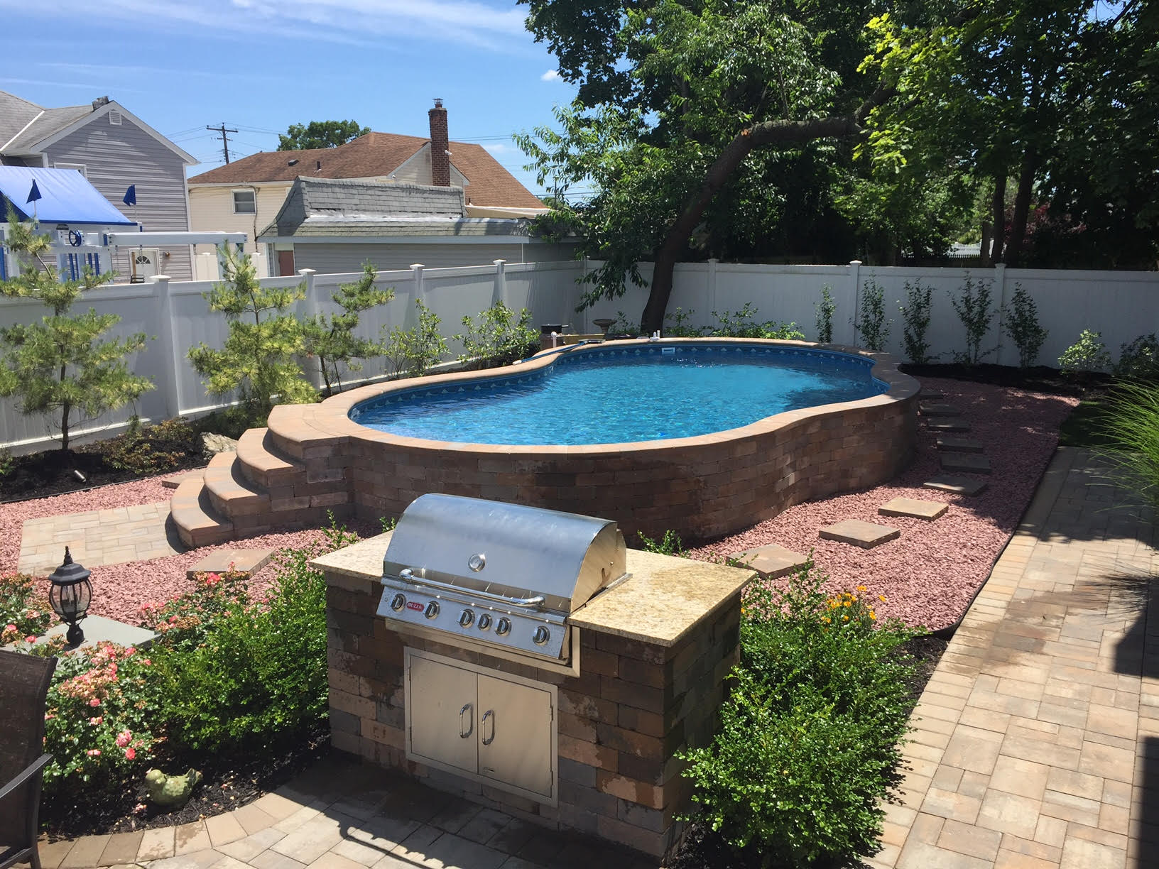 Semi Inground Pool Ideas | Inground Above Ground Pools | Cost of Radiant Pools