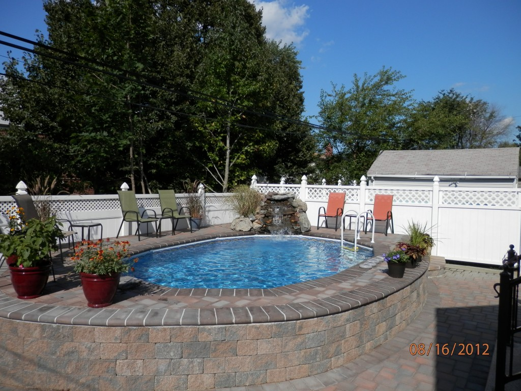 Semi Inground Pool Ideas | Inground Pool Prices | Partial Inground Above Ground Pools