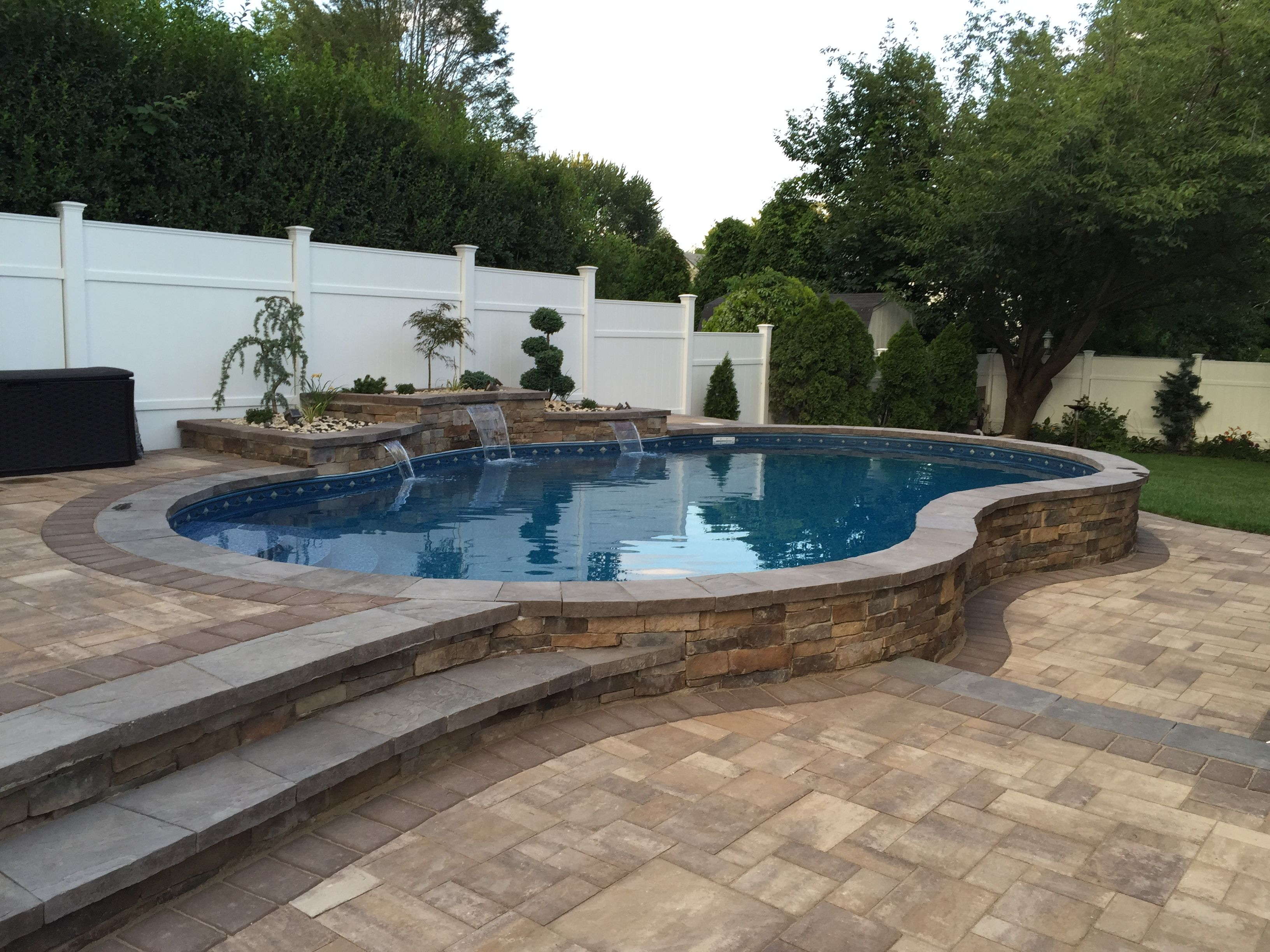 Semi Inground Pool Ideas | Inground Pool Prices | Semi Above Ground Swimming Pools