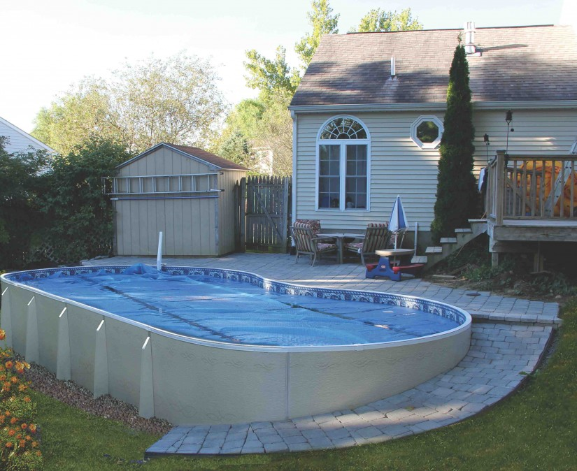 Semi Inground Pool With Deck | Above Ground Inground Pools | Semi Inground Pool Ideas
