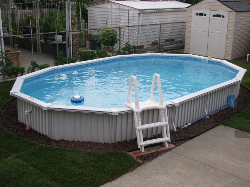 Semi Inground Pools | Above Ground Pools Semi Inground | Semi Inground Pool Ideas