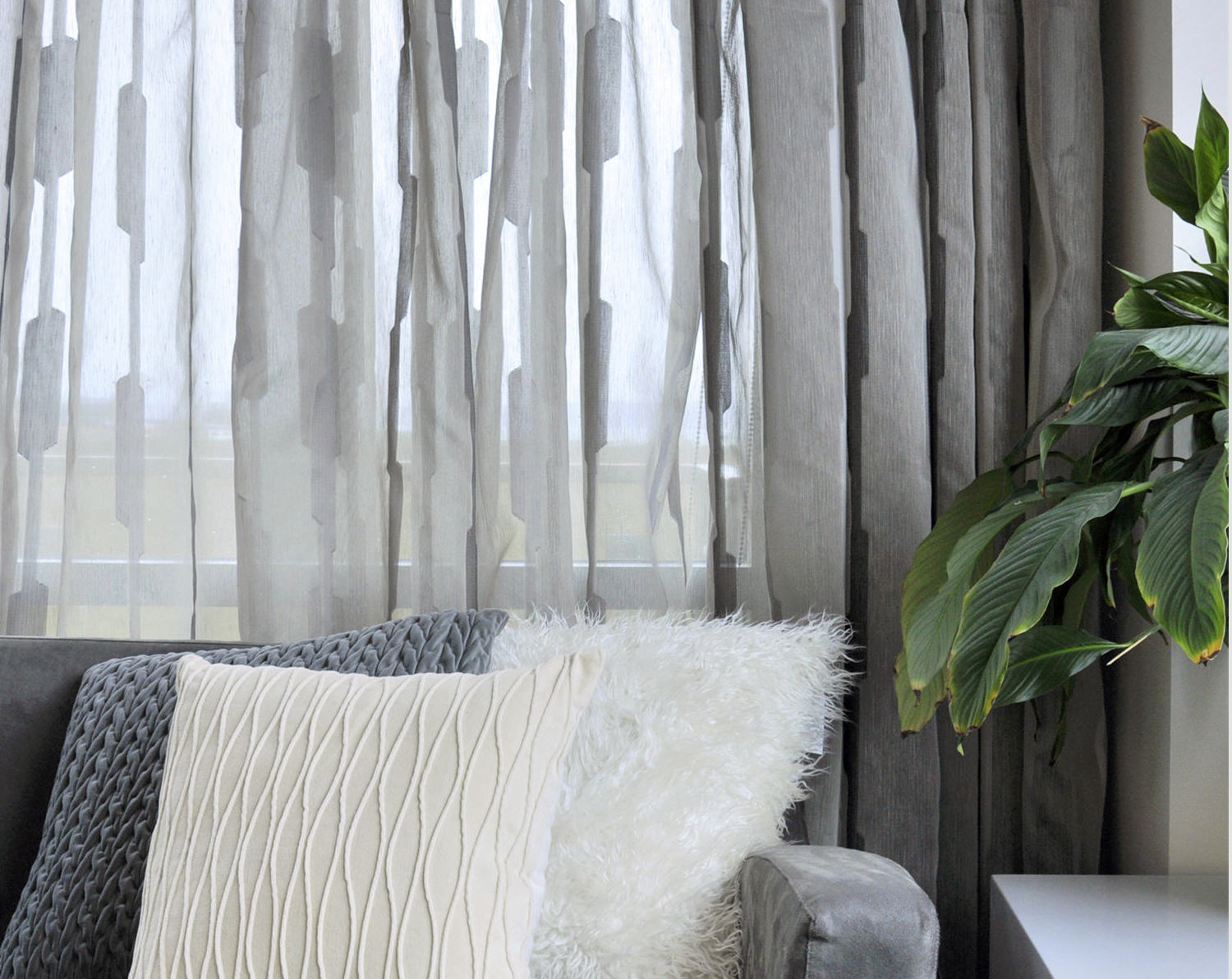 Curtain: Perfect Quality Of Sheer Fabric Crossword For Interior ...