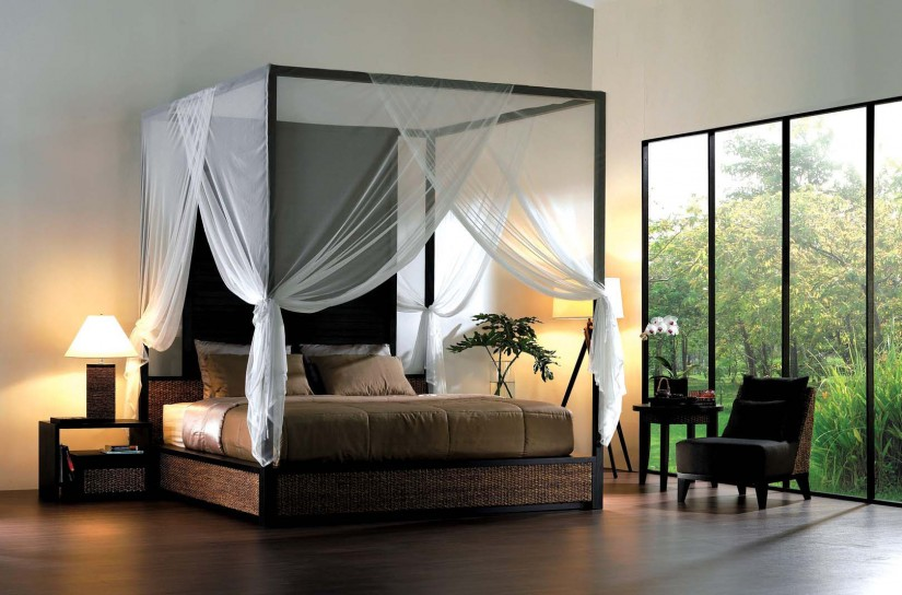 Sheer Curtains For Canopy Bed | Canopy Bed Curtains | Purple Canopy Bed Curtains