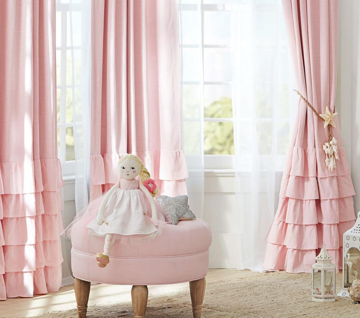 Sheer Polka Dot Curtains | Teenage Girl Bedroom Curtains | Ruffle Blackout  Curtains