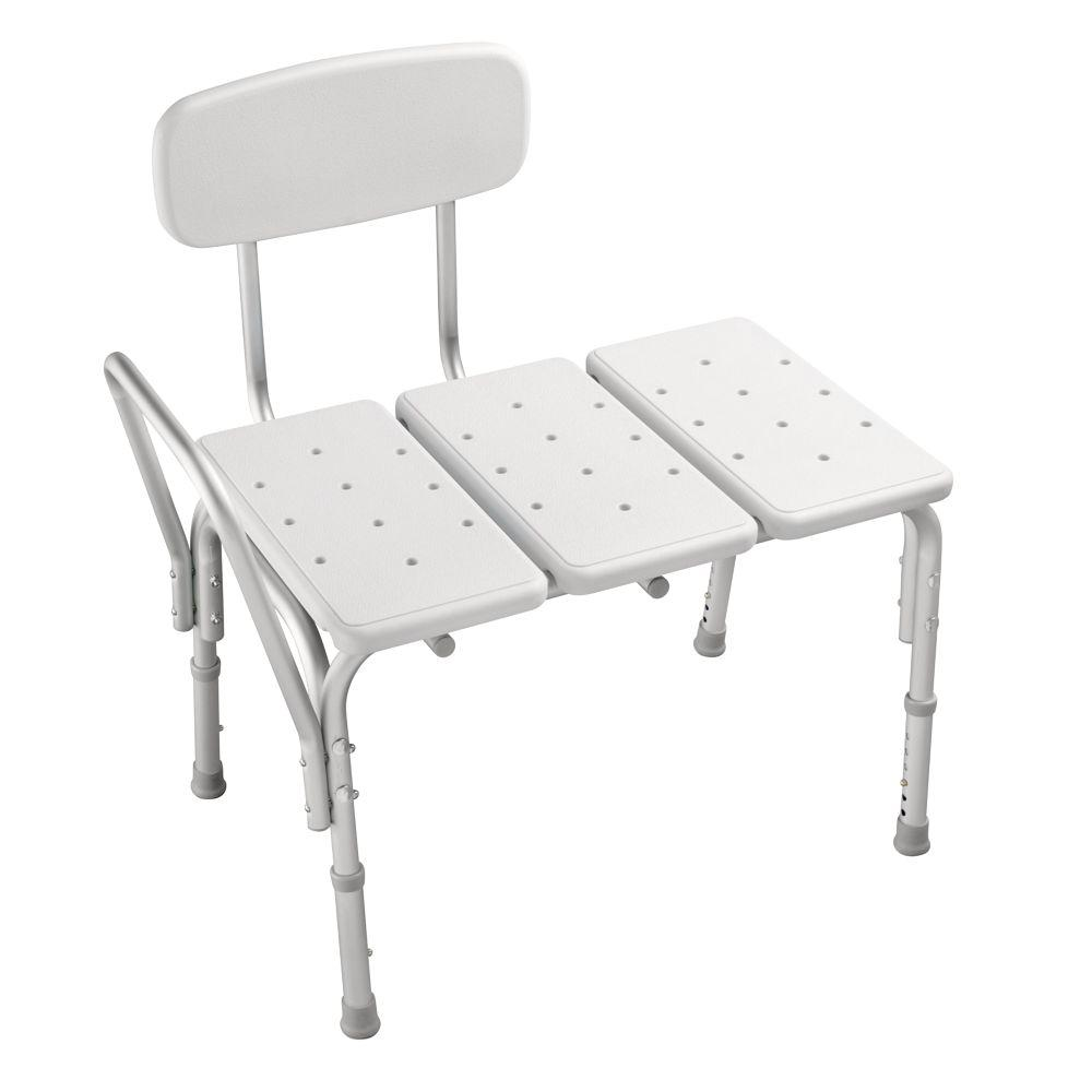 Shower Chair with Transfer Bench | Transfer Tub Bench | Padded Tub Bench