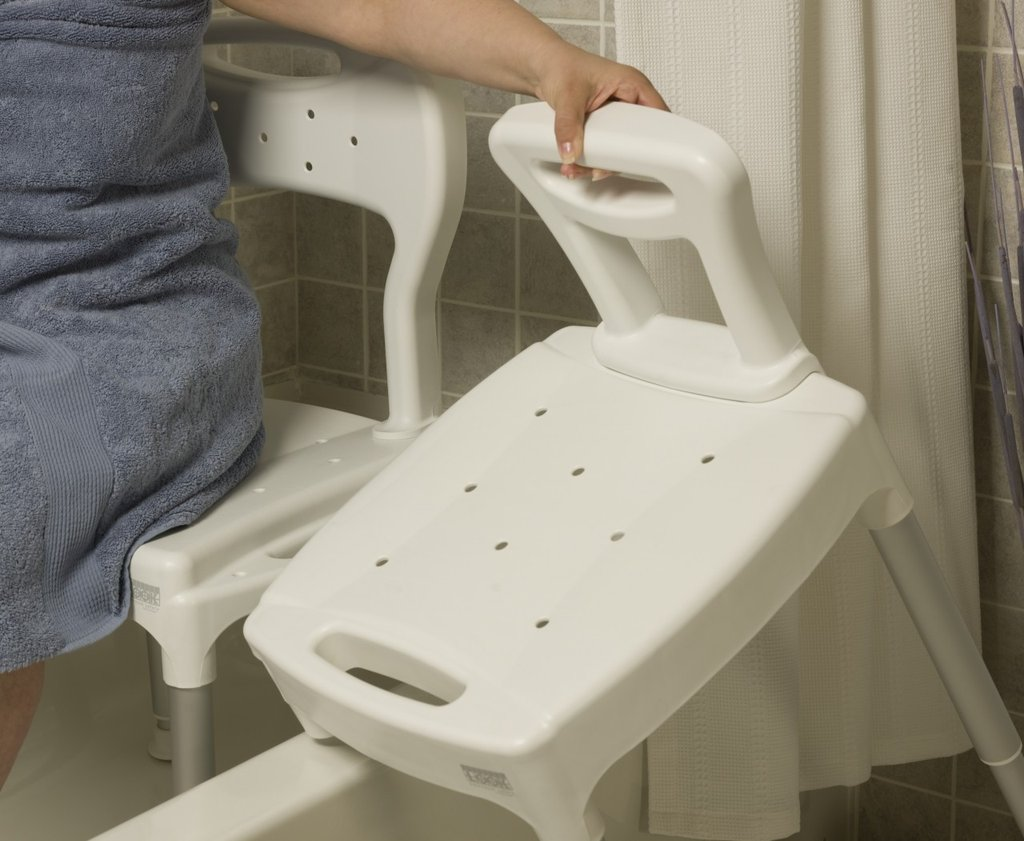 Shower Chair with Transfer Bench | Transfer Tub Bench | Sliding Tub Transfer Bench