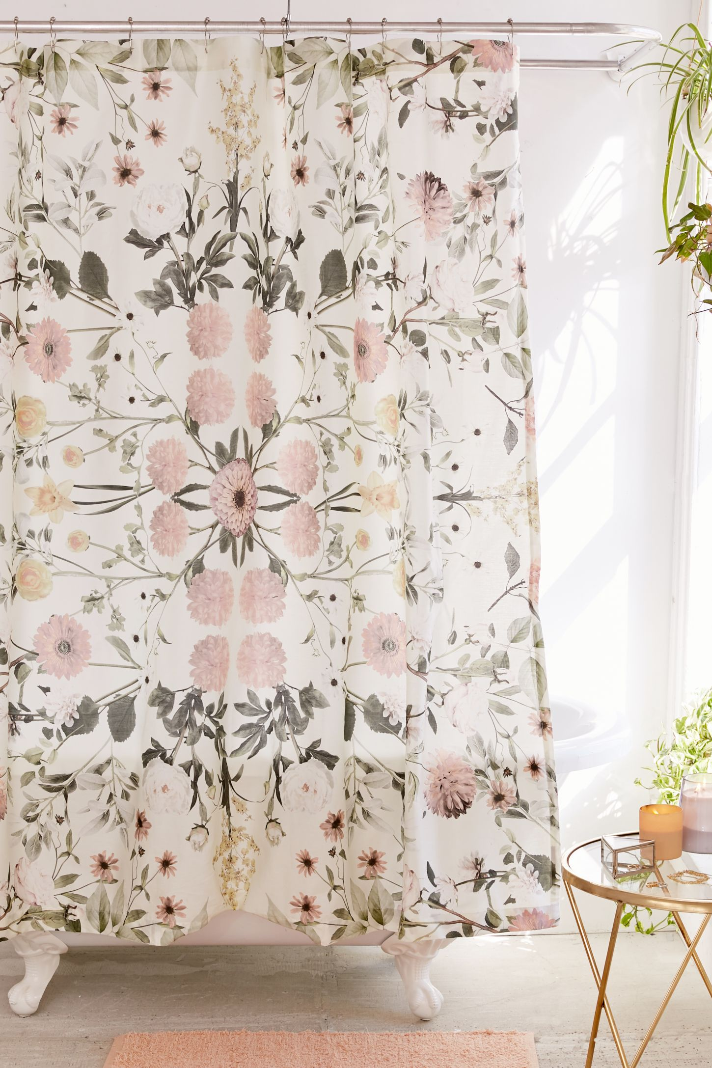 Beautiful Bathroom Decor Ideas with Floral Shower Curtain: Shower Curt | Floral Shower Curtain | India Shower Curtain