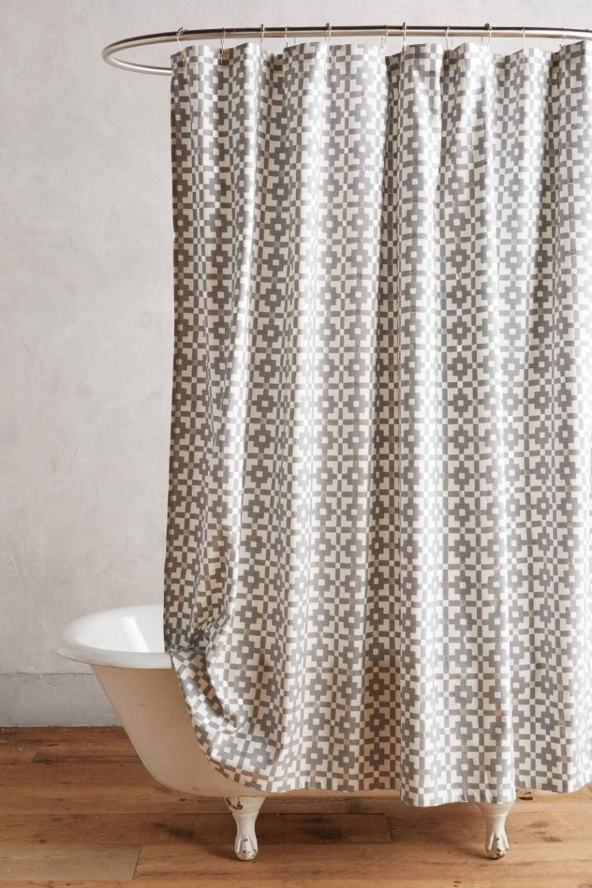 Shower Curtain Clawfoot Tub | Free Standing Tub Shower Curtain | Clawfoot Tub Shower Curtain