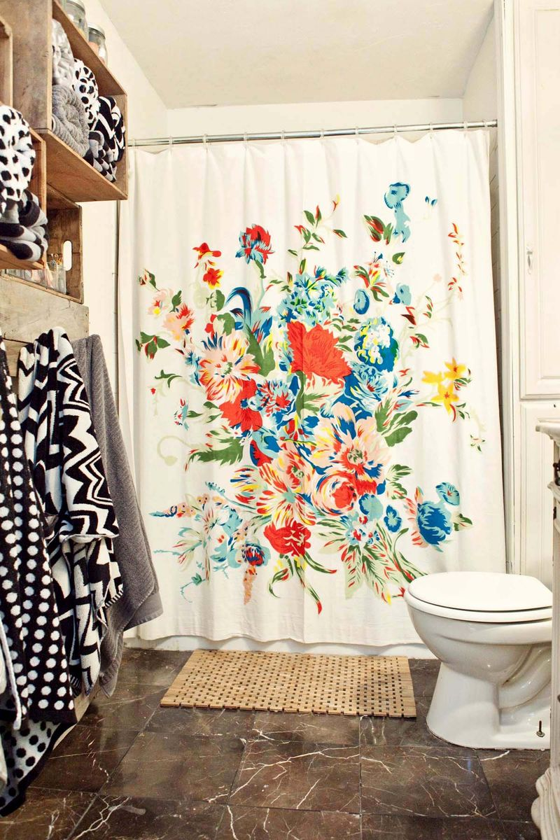 Shower Curtain Floral | Threshold Shower Curtains | Floral Shower Curtain