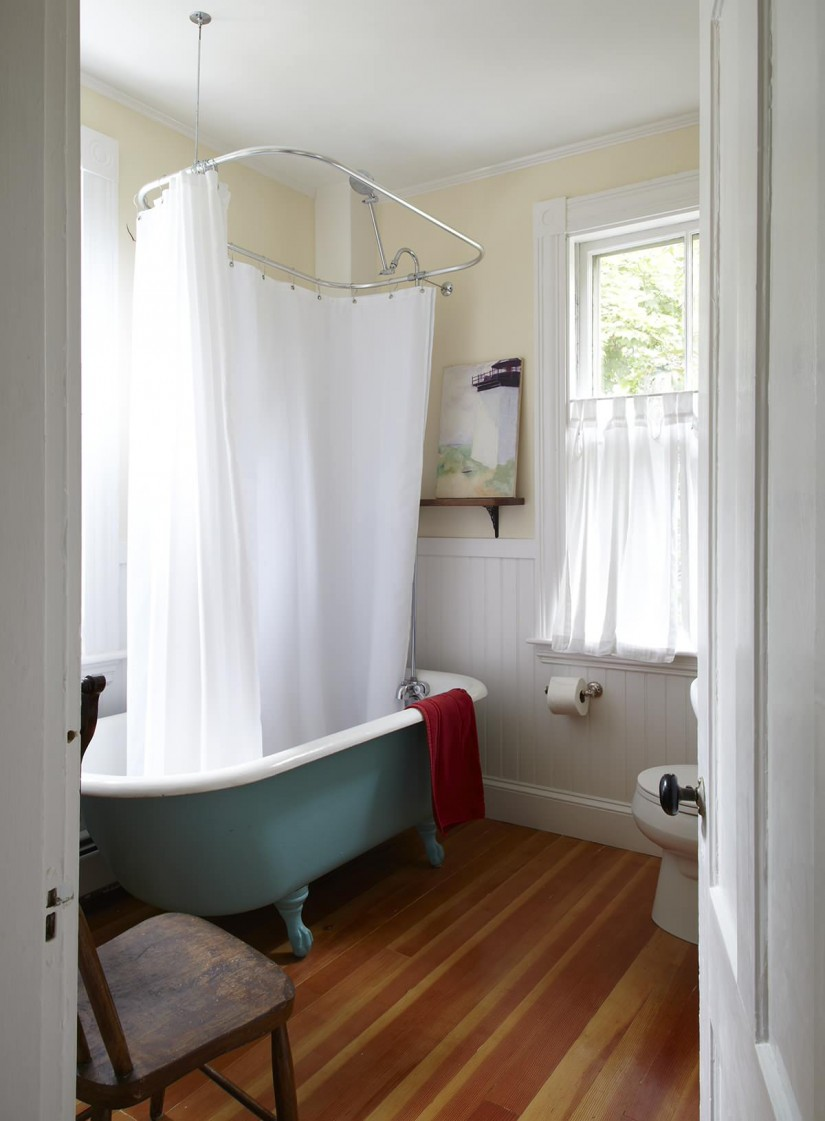 Shower Curtain Solutions For Clawfoot Tub | Clawfoot Bath Shower Curtain Rail | Clawfoot Tub Shower Curtain