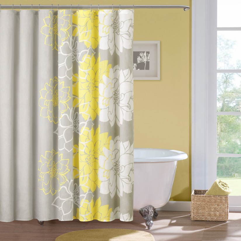 Shower Curtain Surround | Clawfoot Tub Shower Curtain | Extra Wide Fabric Shower Curtain