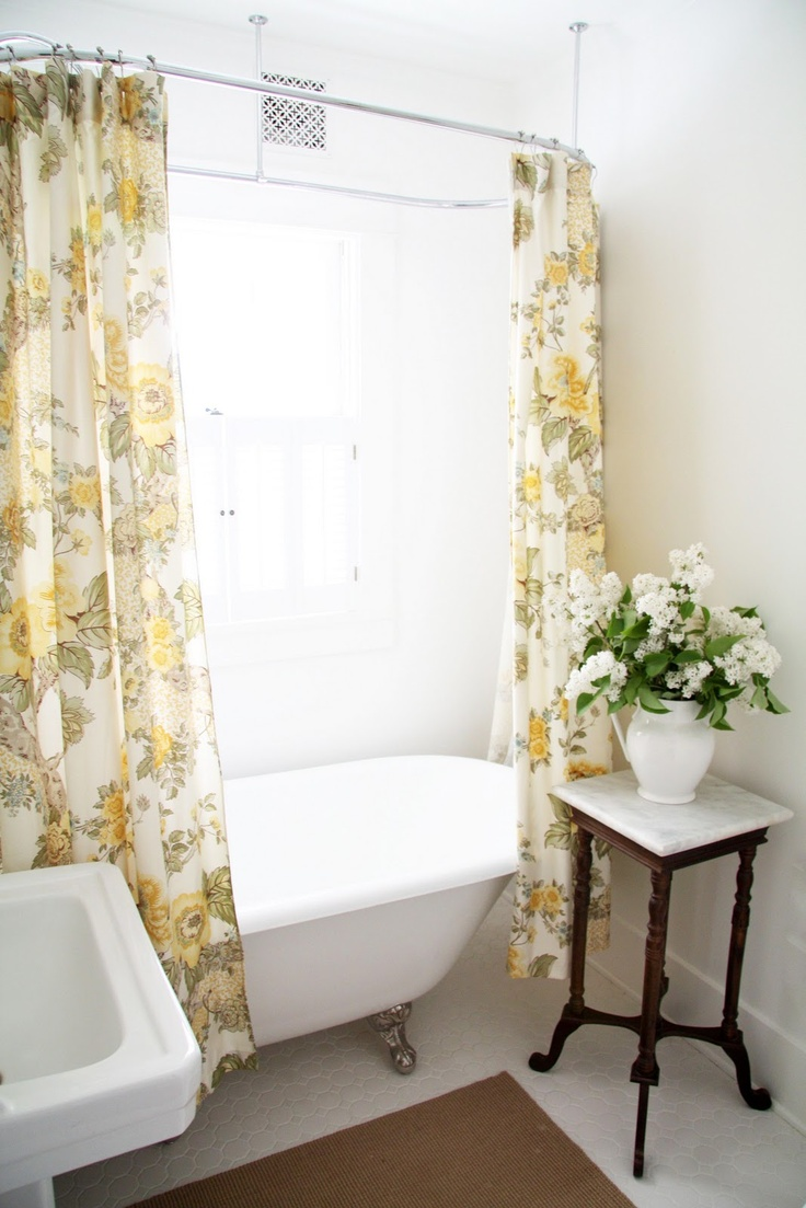 Shower Rods for Clawfoot Tubs | Clawfoot Tub Shower Curtain | Clawfoot Tub Shower Liner