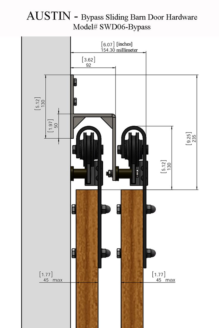 Sliding Barn Door Hardware Lowes | Bypass Barn Doors | Heavy Duty Bypass Door Hardware