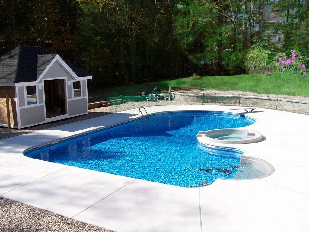 Small Semi Inground Pools | Above Ground Pools Half in Ground | Semi Inground Pool Ideas