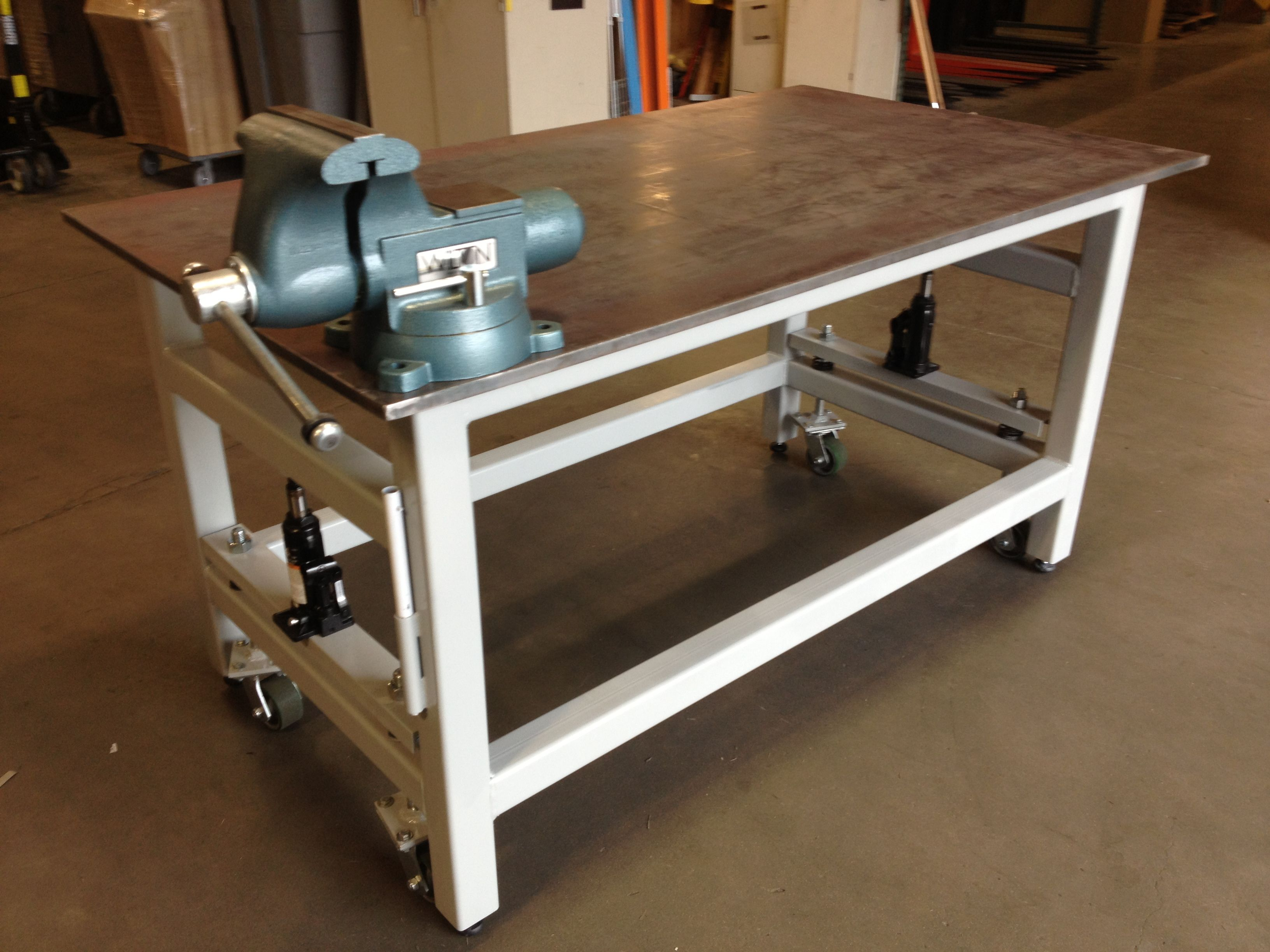 Small Wood Workbench | Metal Workbench | Steel Workbenches With Drawers