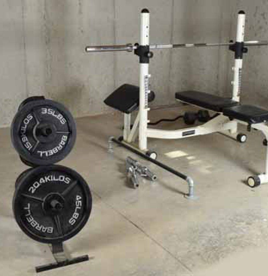Sports Authority Bench Press | Used Workout Bench | Powerhouse Weight Bench